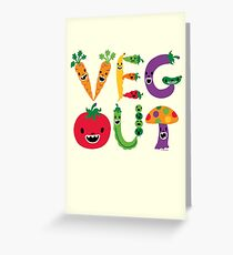 Veg Out - maize Greeting Card