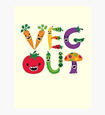 Veg Out - maize Photographic Print