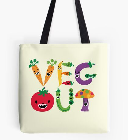 Veg Out - maize Tote Bag
