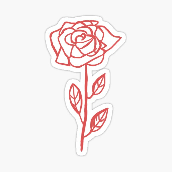 The actual rose Sticker