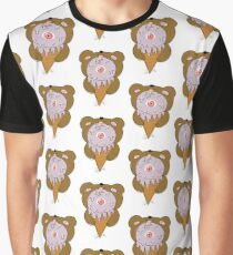 Casual bear licking some eyescream  Graphic T-Shirt