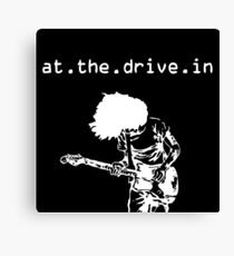 At the Drive-in • White Canvas Print