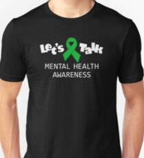 Mental Health Awareness - Let's Talk  Slim Fit T-Shirt