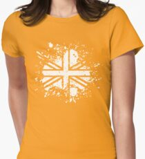Grunge Union Jack Womens Fitted T-Shirt