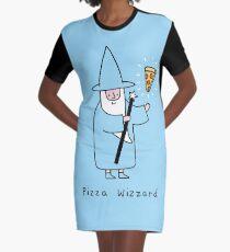 Pizza Wizzard Graphic T-Shirt Dress