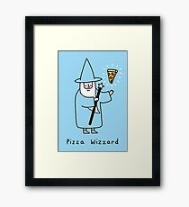 Pizza Wizzard Framed Print