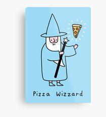 Pizza Wizzard Metal Print