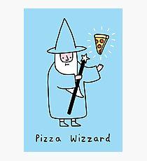 Pizza Wizzard Photographic Print