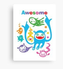 Stay Awesome - light  Canvas Print