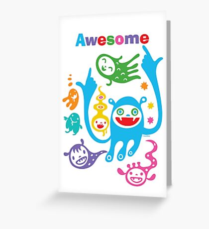 Stay Awesome - light  Greeting Card