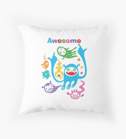 Stay Awesome - light  Throw Pillow