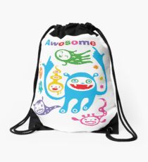 Stay Awesome - light  Drawstring Bag