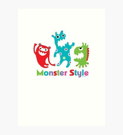 Monster Style - light Art Print