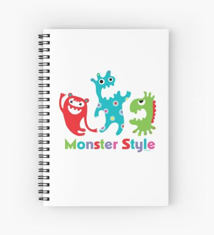 Monster Style - light Spiral Notebook