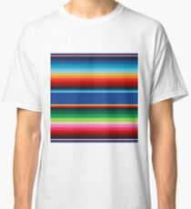 Colourful Mexican Poncho Background Classic T-Shirt