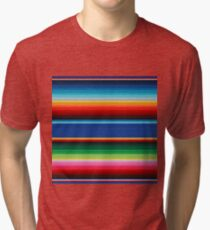 Colourful Mexican Poncho Background Tri-blend T-Shirt