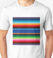 Colourful Mexican Poncho Background Unisex T-Shirt