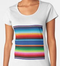 Colourful Mexican Poncho Background Women's Premium T-Shirt