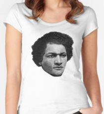 Young Frederick Douglass top quality 2 Women's Fitted Scoop T-Shirt