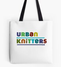 Urban Knitters - blues Tote Bag