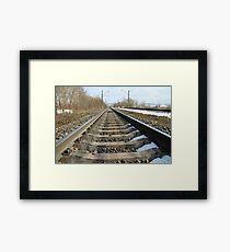 rails of railway forward Framed Print