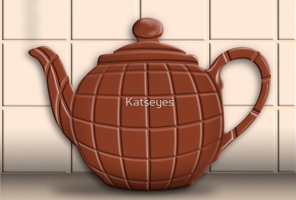CHOCOLATE TEAPOT by Katseyes