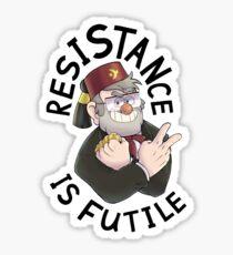 ResiSTANce is Futile Sticker