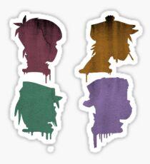 Gorillaz Demon Days Drip Sticker