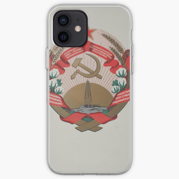 emblem of the Azerbaijan Soviet Socialist Republic iPhone Soft Case
