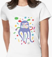 critter awesome - light Women's Fitted T-Shirt