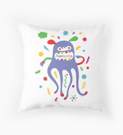 critter awesome - light Throw Pillow