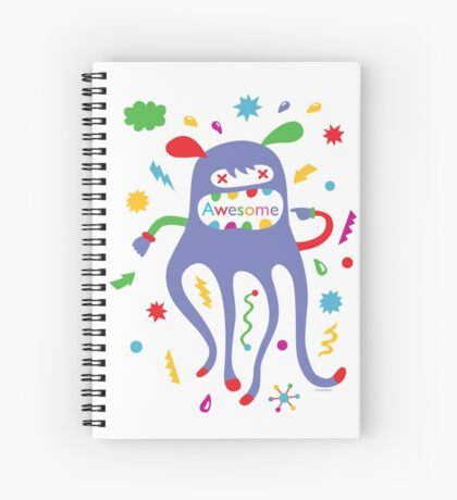 critter awesome - light Spiral Notebook