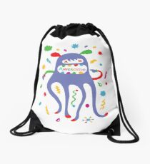 critter awesome - light Drawstring Bag