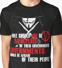 V FOR VENDETTA MOVIE GUY FAWKES CONSPIRACY QUOTE  Graphic T-Shirt