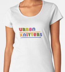 Urban Knitters - golden Women's Premium T-Shirt