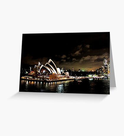 Opera House At Night Greeting Card