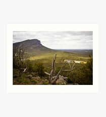 Looking over the ranges at Dunkeld, Victoria Art Print