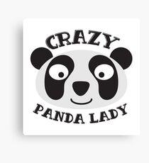 Crazy Panda Lady (New face) Canvas Print
