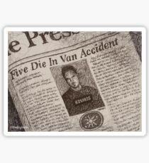 Never Kill A Boy on the First Date - BtVS Sticker
