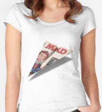 160 MAD Paper Airplane Women's Fitted Scoop T-Shirt