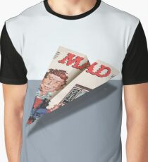 160 MAD Paper Airplane Graphic T-Shirt