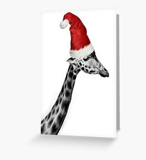 The Elegance of the Christmas Giraffe Greeting Card