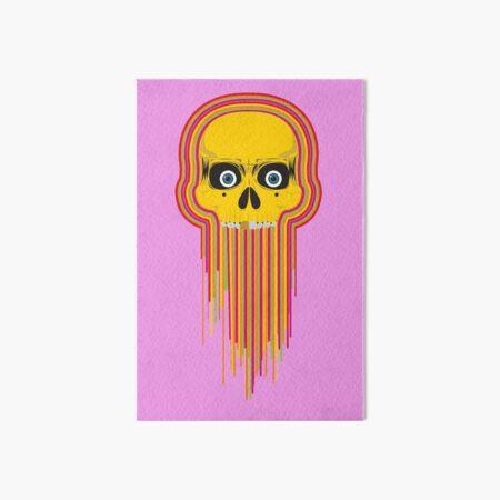The Incredible Melting Skull Art Board Print