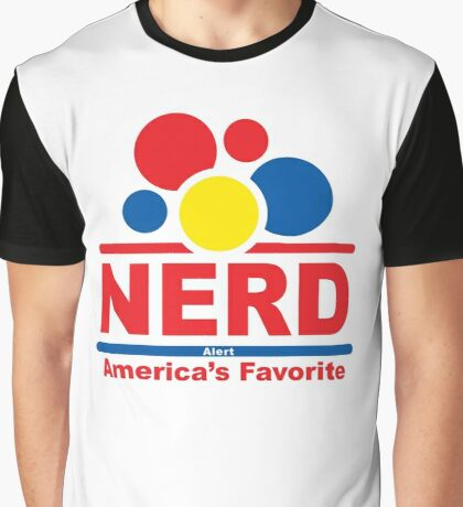 nerd alert white  Graphic T-Shirt