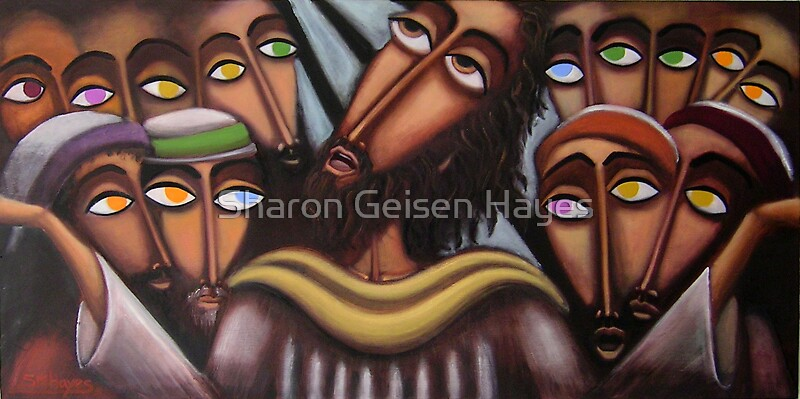 """""""The Crowded Upper Room"""" by Sharon Geisen Hayes"""