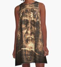 Jesus Shroud of Turin A-Line Dress