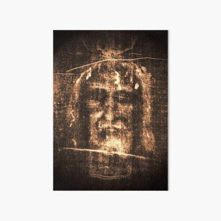 Jesus Shroud of Turin Art Board Print