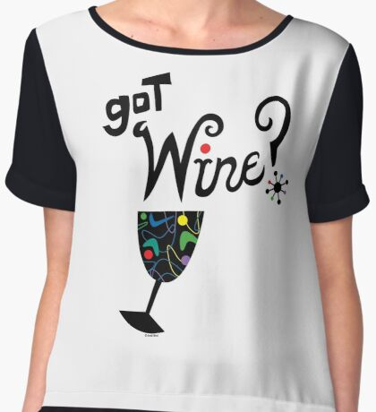 got wine? retro  Women's Chiffon Top