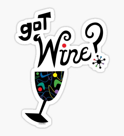 got wine? retro  Sticker
