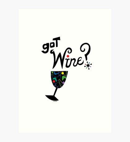 got wine? retro  Art Print